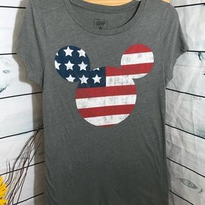 Disney graphic American flag Mickey Mouse sz sm